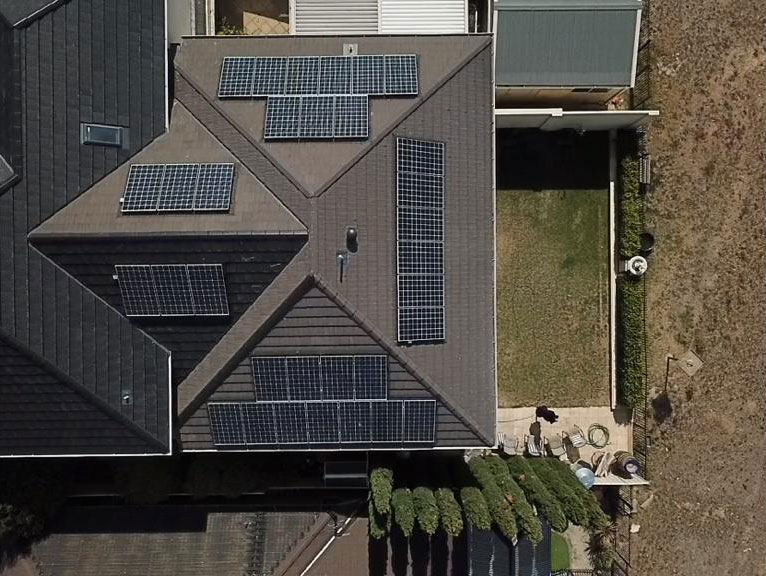 Solar aerial view Adelaide